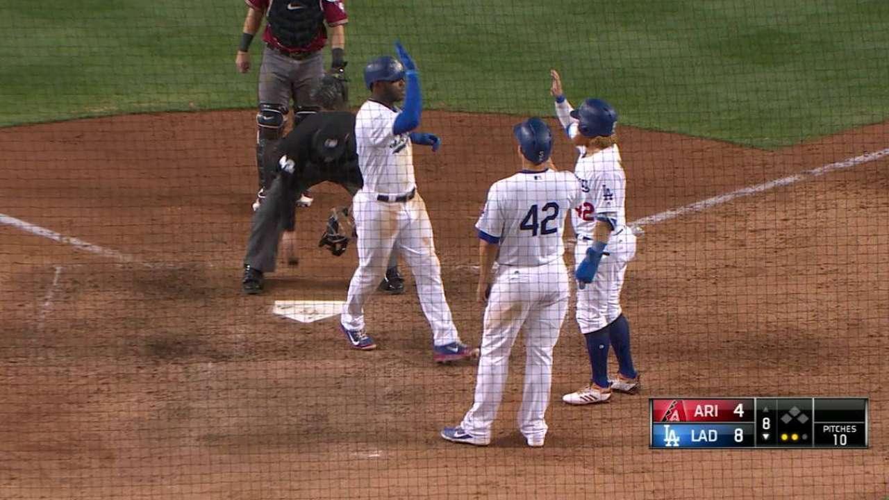 Puig remolca 4 y los Dodgers le repiten la dosis a los D-backs