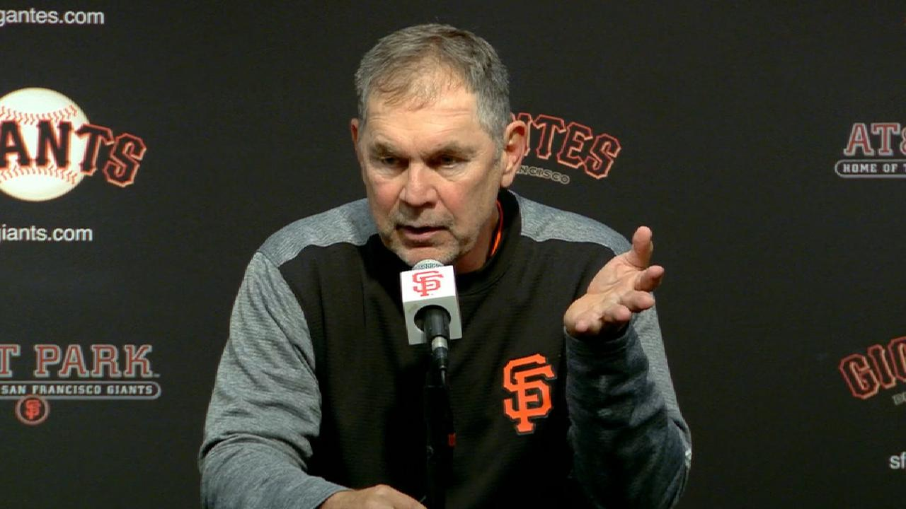 Bochy on field conditions