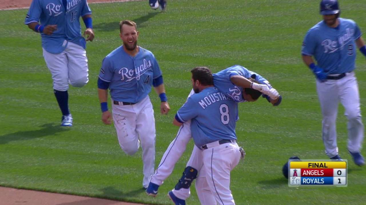 Walk it off! Royals secure sweep of Angels