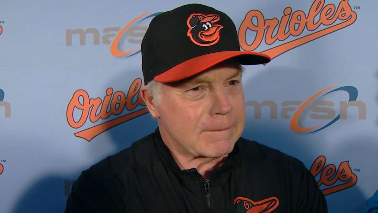 Showalter on Mancini's bat