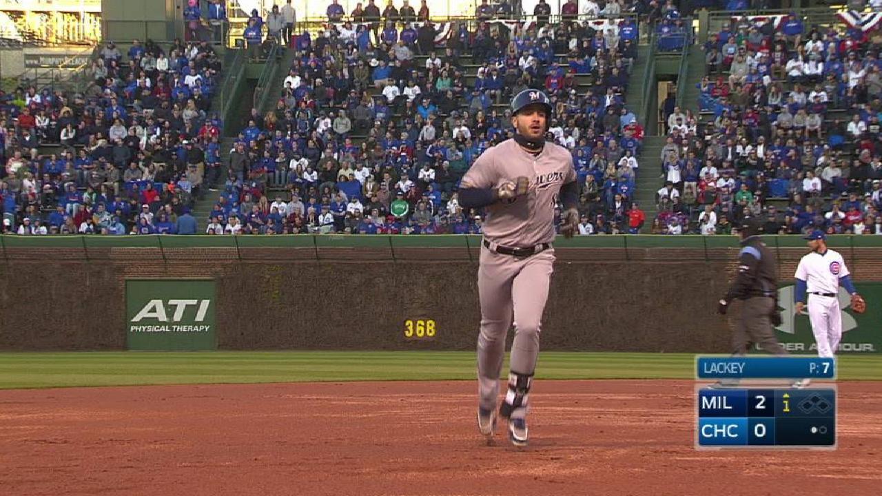 Braun's two-run home run