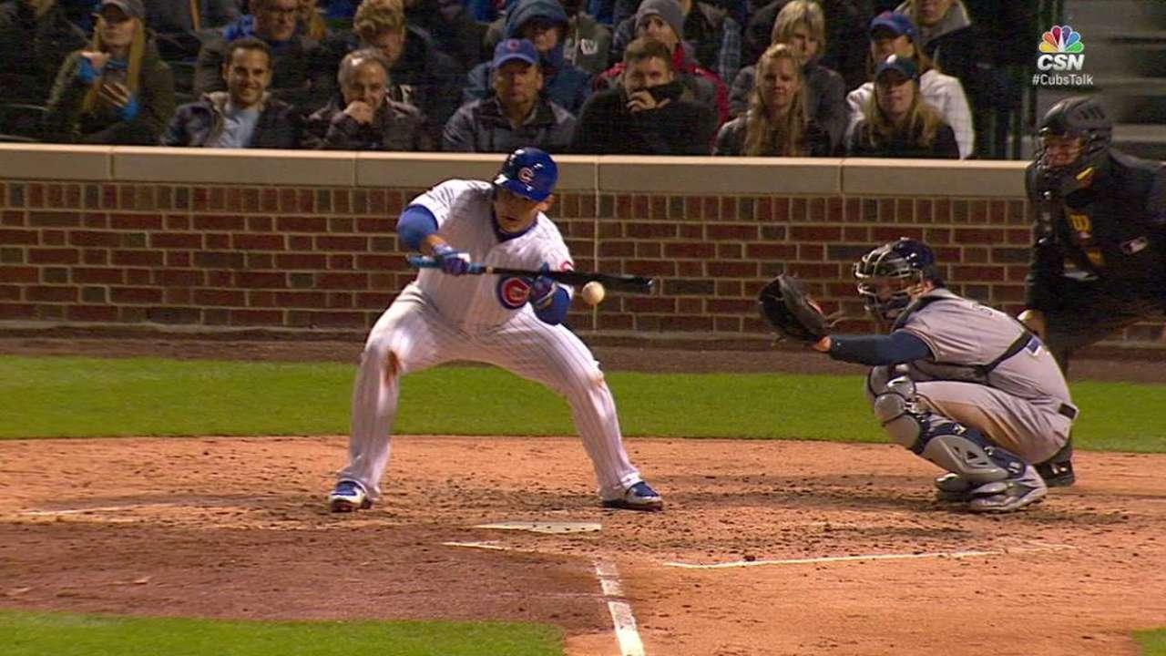 Rizzo beats shift with bunt