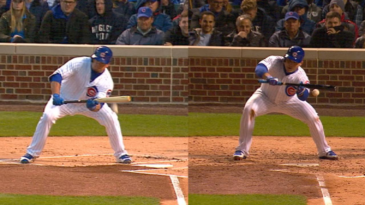 Schwarber, Rizzo play small ball