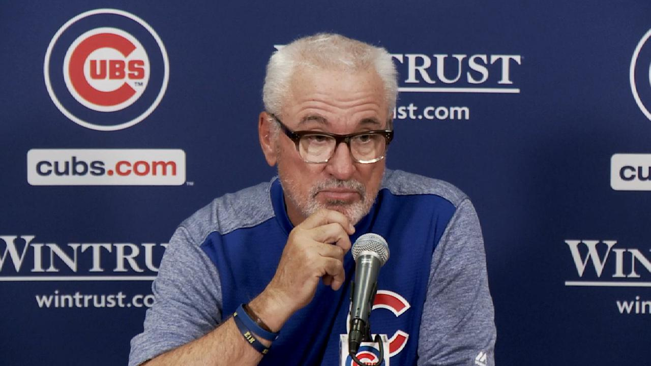 Maddon on close game, late play