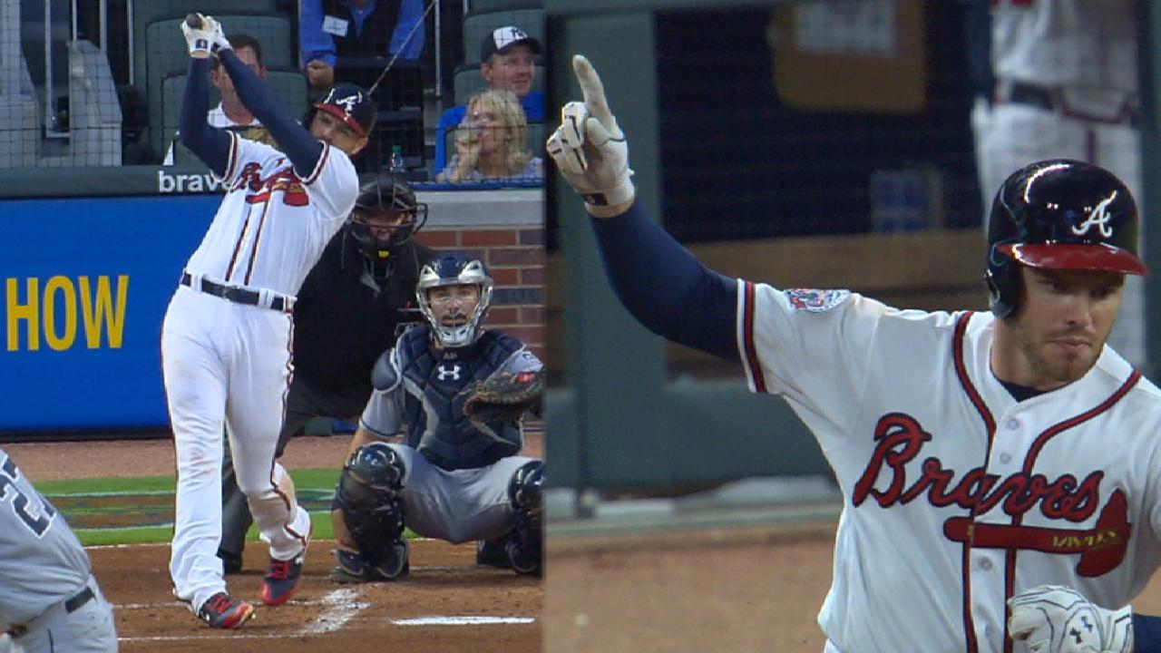 Freeman's four extra-base hits