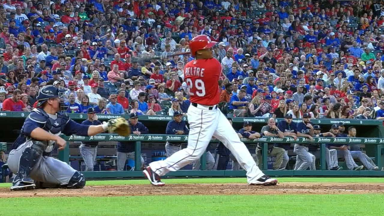 Rangers unsure of timetable for Beltre's return
