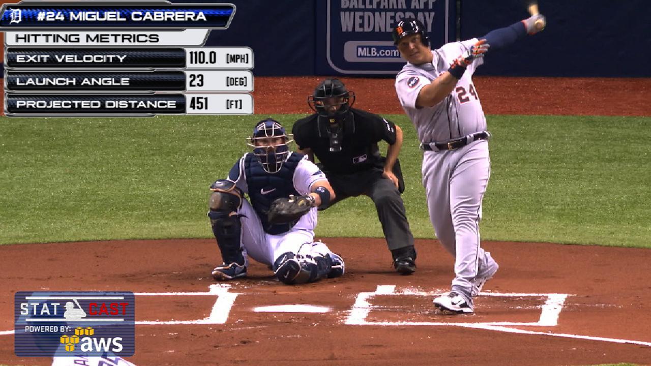 Cabrera crushes homer in first birthday at-bat