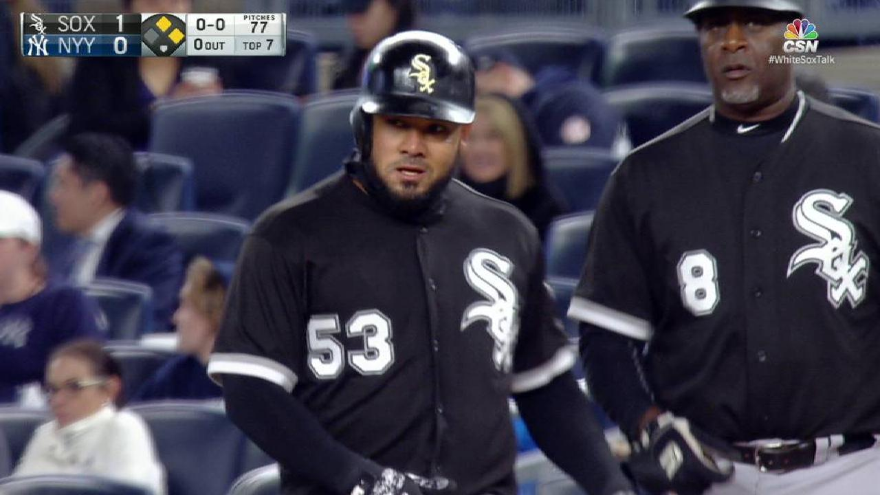 Melky takes advantage of error