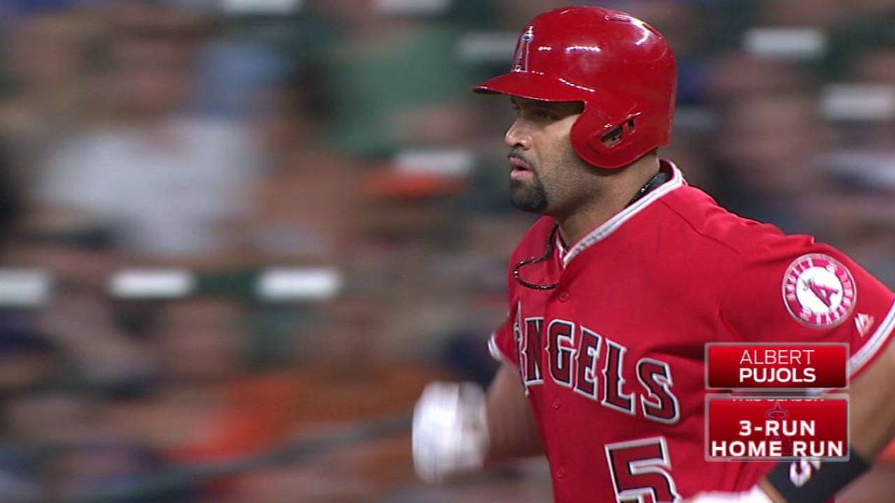 Pujols' 3-run HR snaps Angels' losing streak
