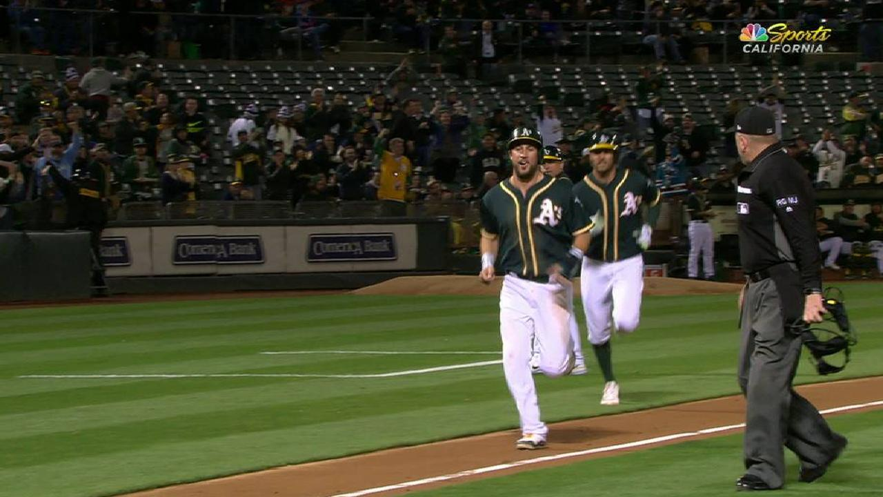 Rosales' energized two-run homer
