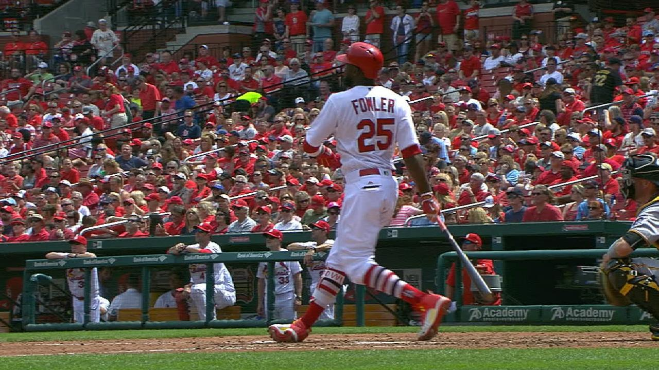 Cards sweep Pirates behind Fowler's 2 HRs