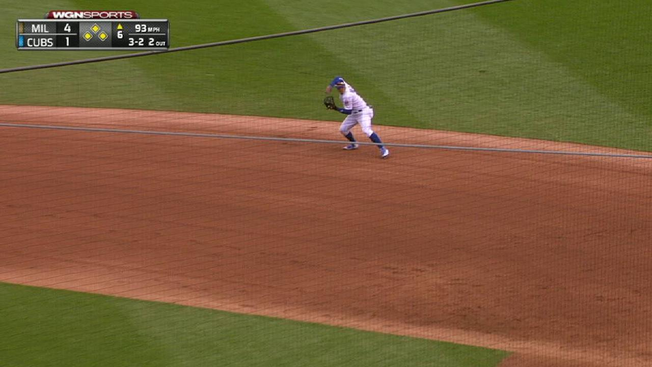 Montgomery induces key groundout