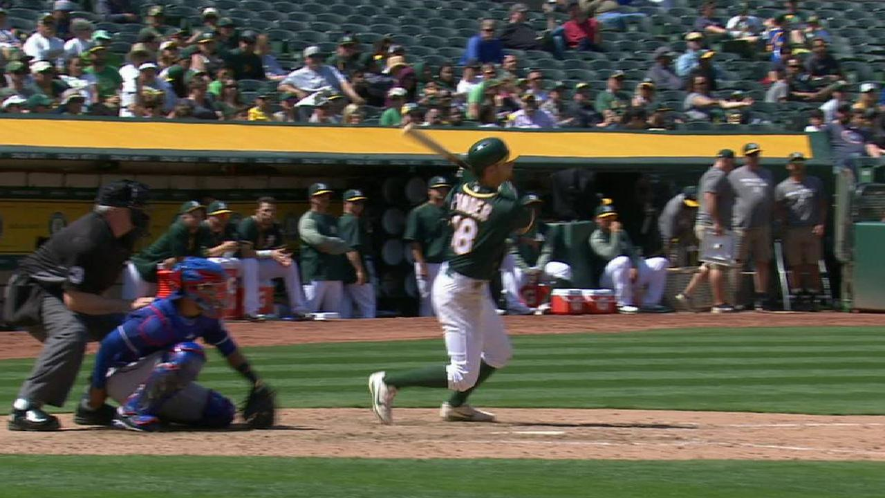 Pinder's solo home run
