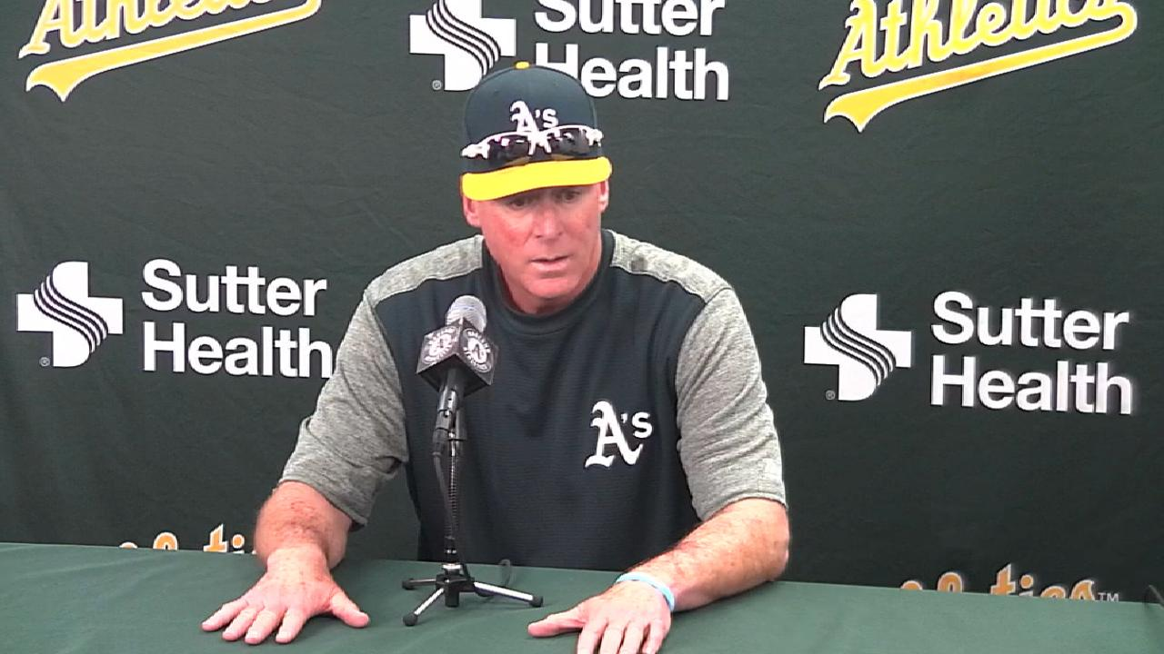 Melvin on Hahn, A's power bats