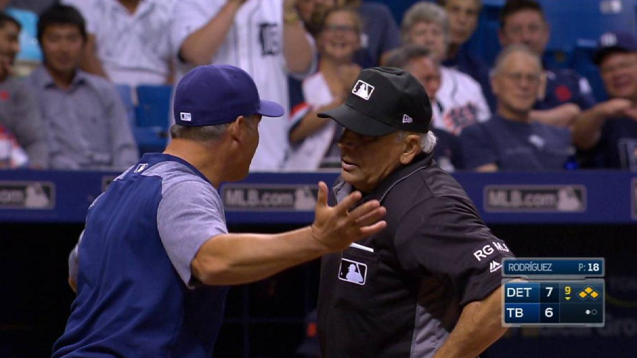 Cash gets ejected in 9th
