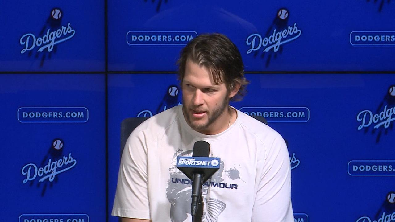 Kershaw, irked by delay, deals after early jam