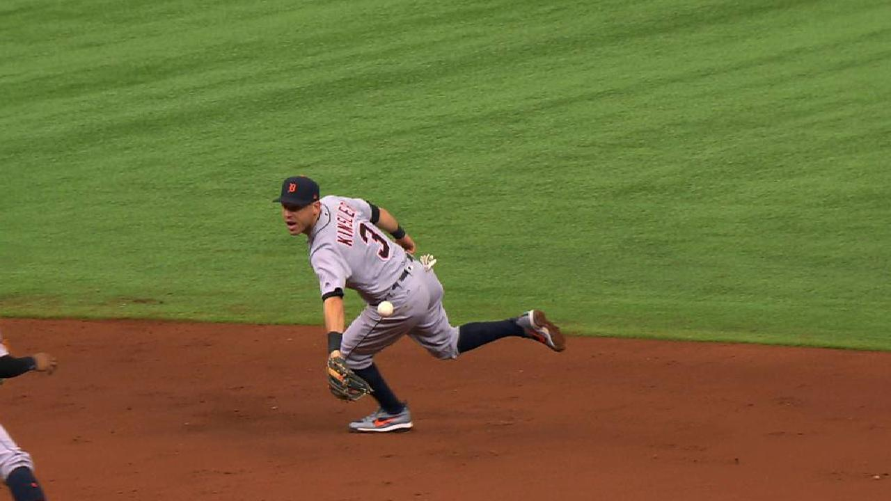 Kinsler's nifty pick and flip