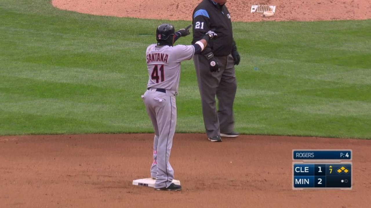 Santana's second RBI double