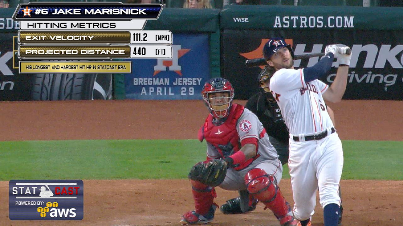 Marisnick's work coming to fruition at plate