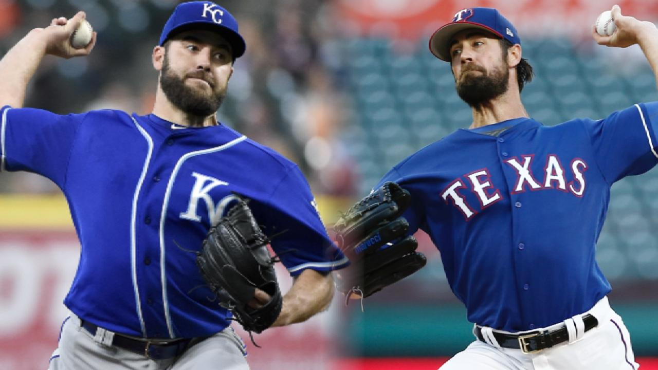 Still seeking first win, Hamels takes on Royals