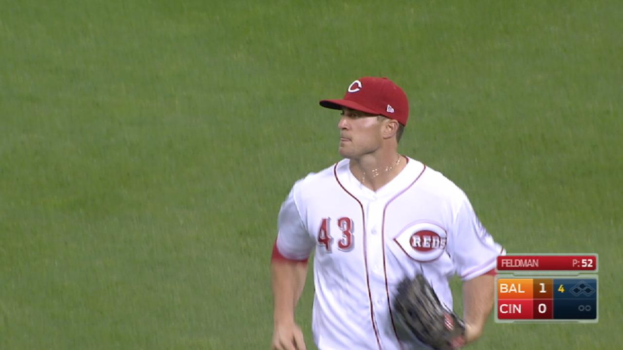 Schebler nabs Machado at third