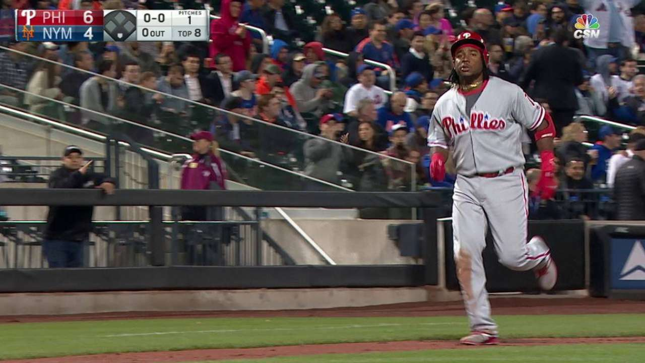Franco's solo home run