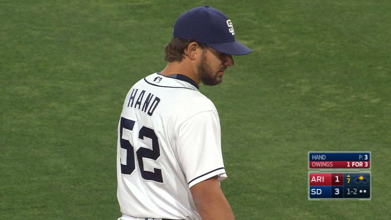 Upper Hand: Padres strike out four in seventh