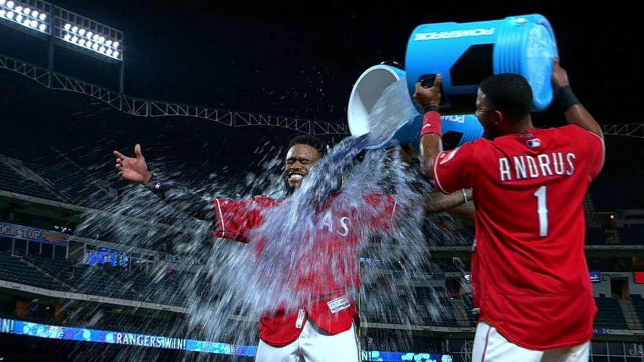 DeShields on Rangers' win
