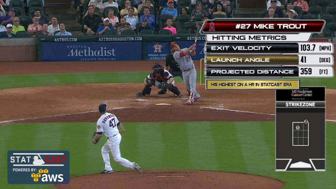 Statcast of the Day: Trout's high-arcing homer