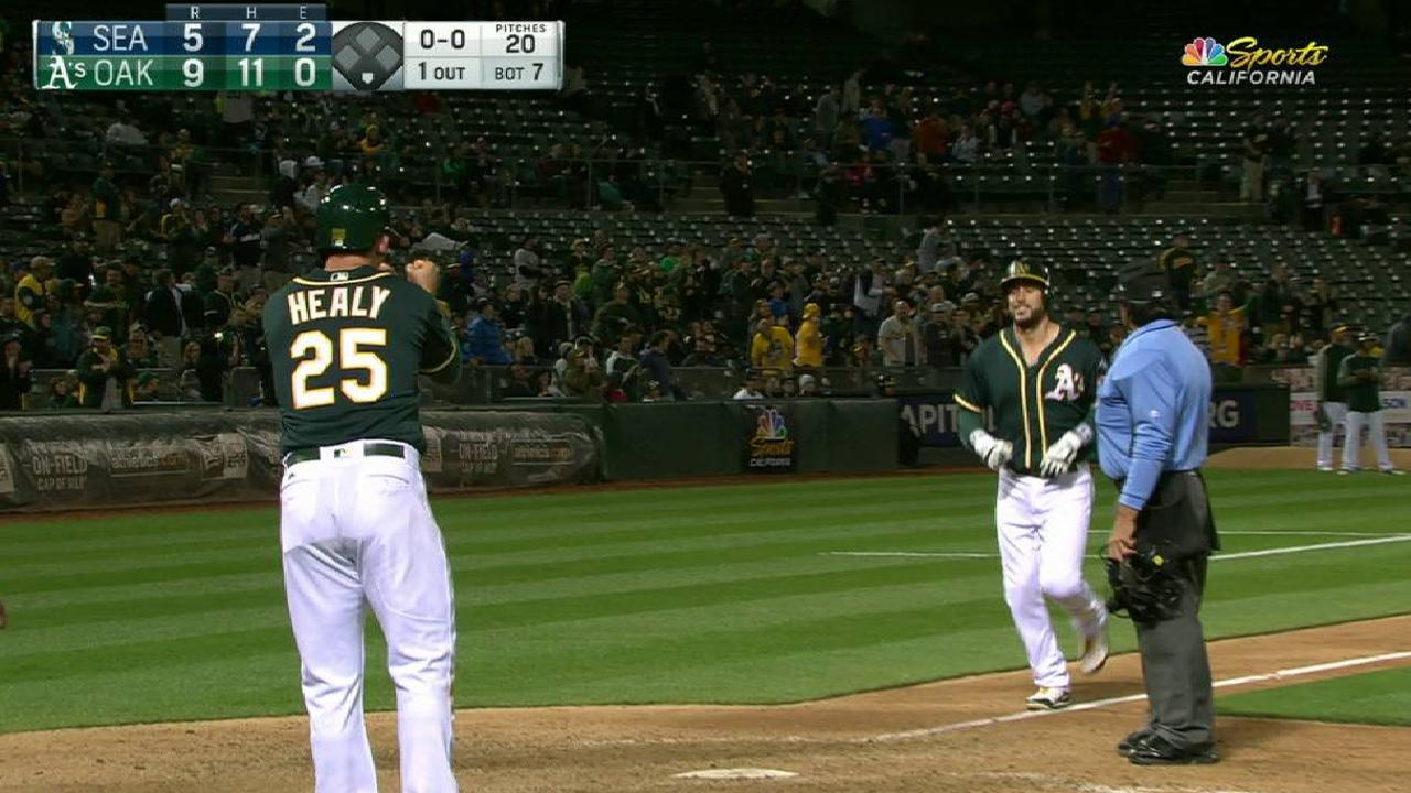 A's chase Paxton, power past Seattle