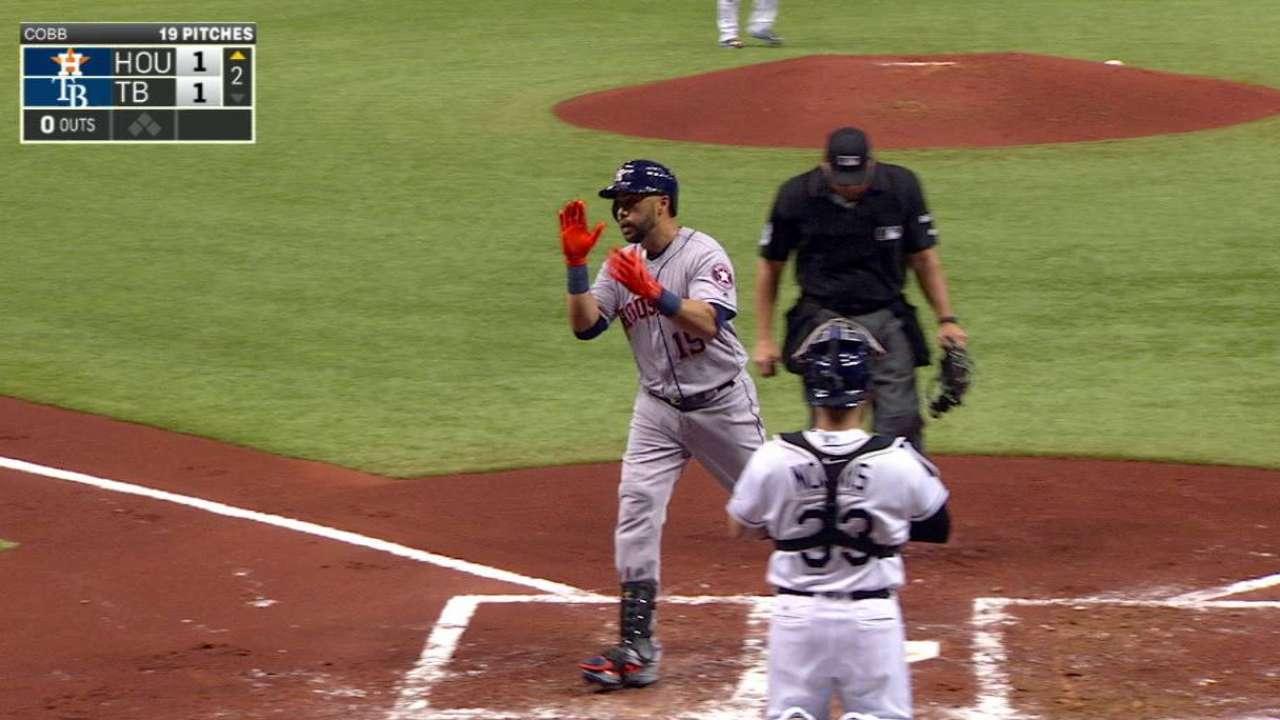 Bambinazo de Carlos Beltrán decide victoria de Astros en Tampa Bay