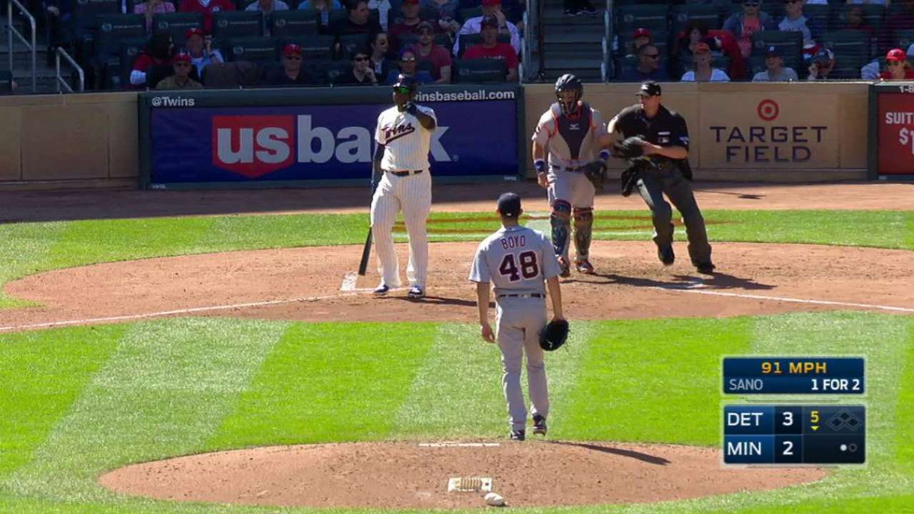 Sano serves suspension in opener vs. Sox