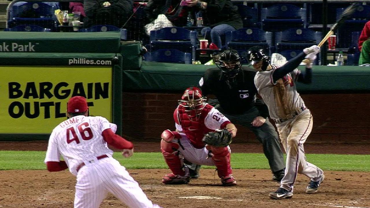 Hard-hit balls not falling for Swanson