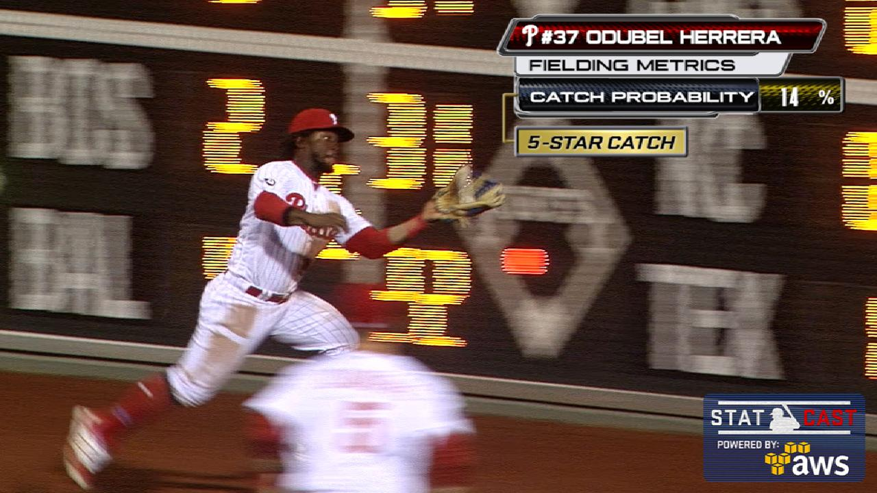 Statcast: Herrera's superb grab