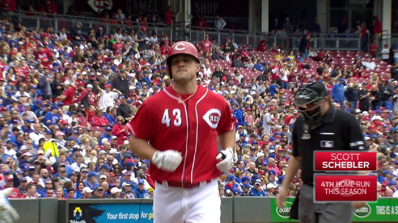 Schebler, bats back Arroyo in win over Cubs
