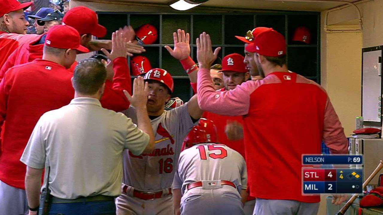 Leake does it all in win for Cardinals