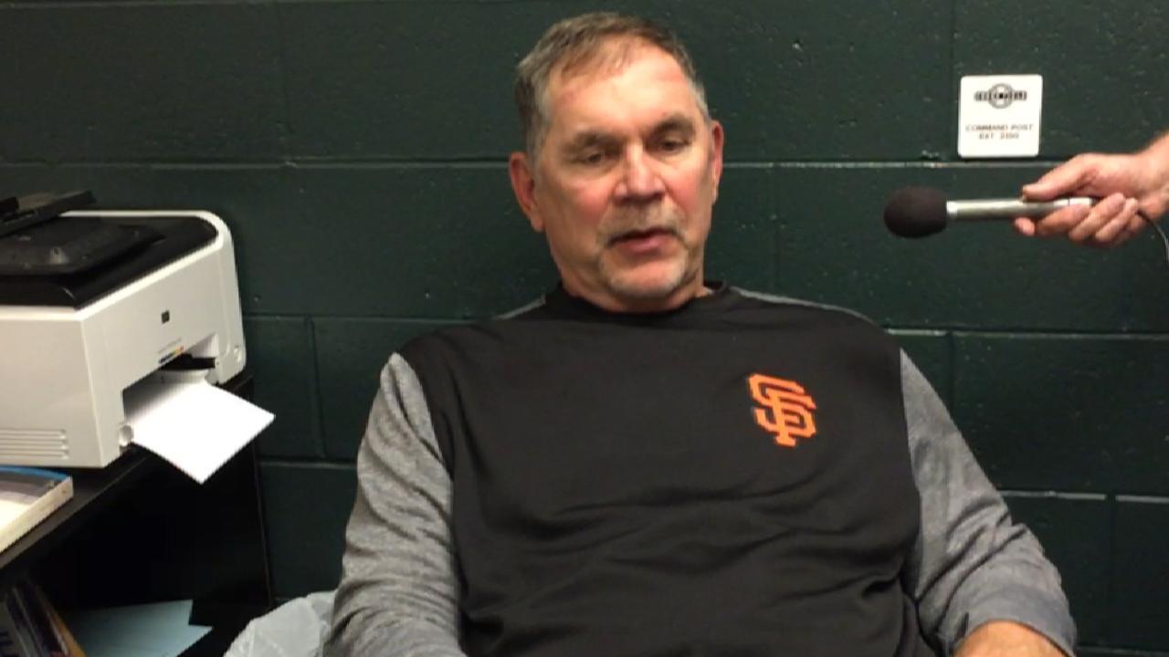 Bochy wants 'sense of urgency' from Giants
