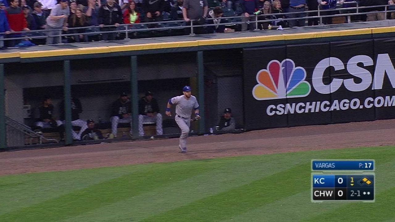 Gordon's running, leaping catch