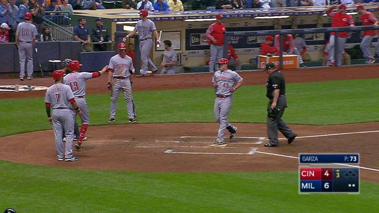 Schebler's 4 RBIs not enough vs. Crew
