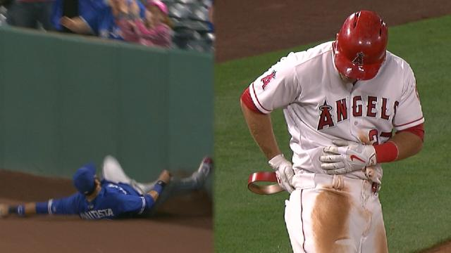 Mike Trout legged out a broken-belt triple and made a ...