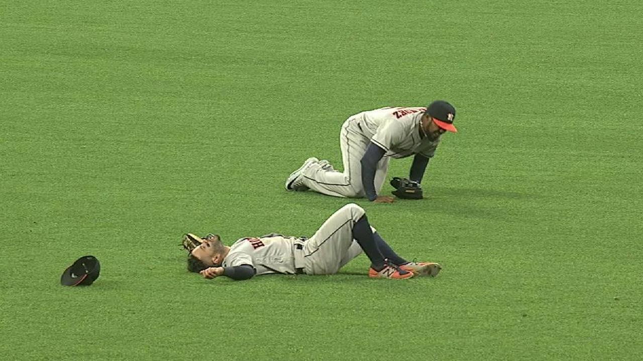 Colisión entre Altuve y Hernández empañó triunfo de Astros