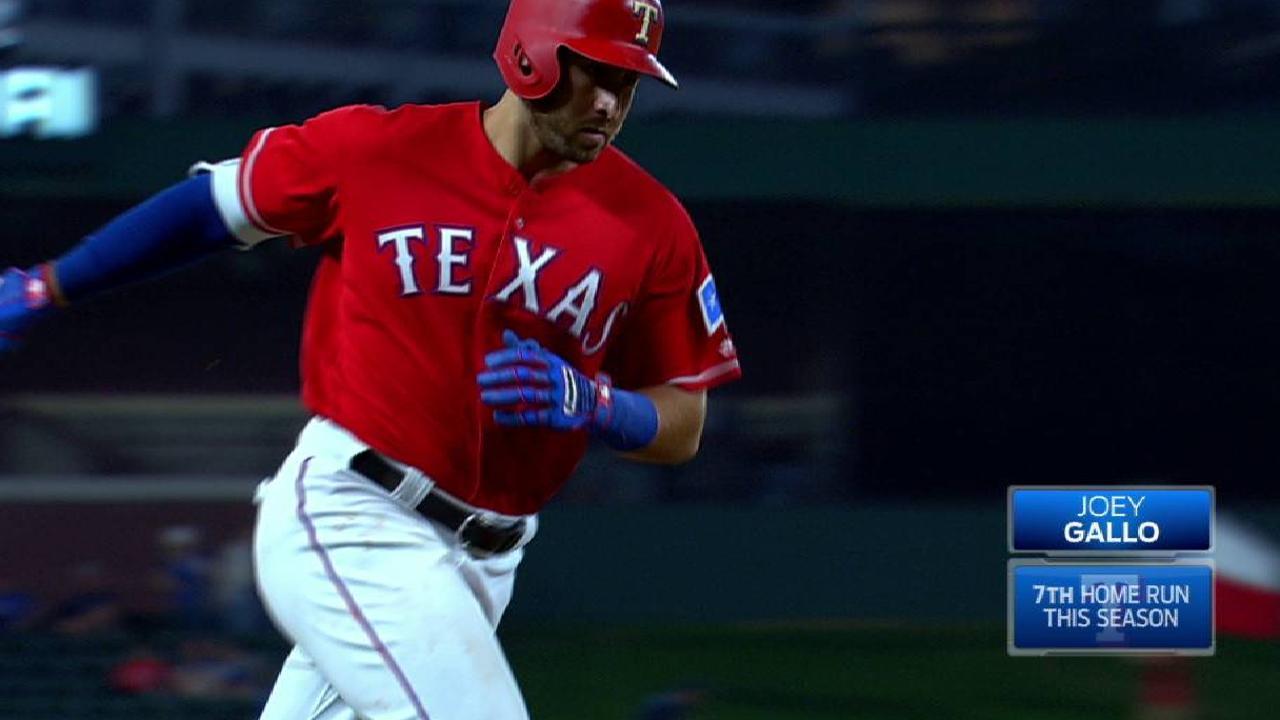 Gallo homers, but seven-run inning sinks Texas