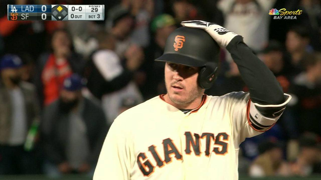Blach doubles off Kershaw