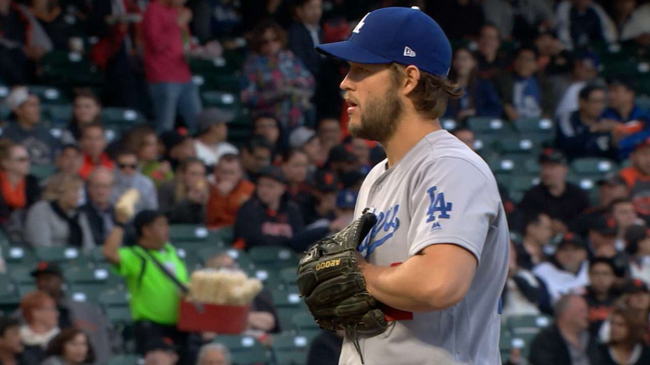 Kershaw strikes out seven