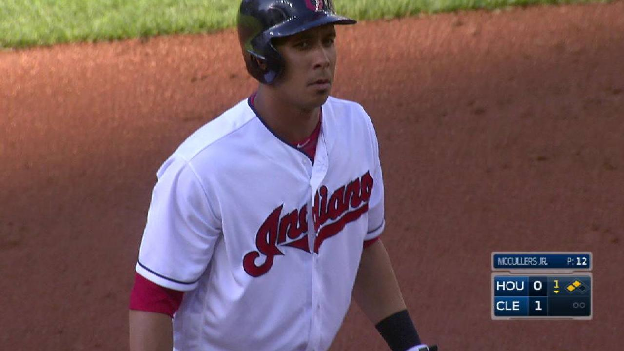 Brantley's RBI double