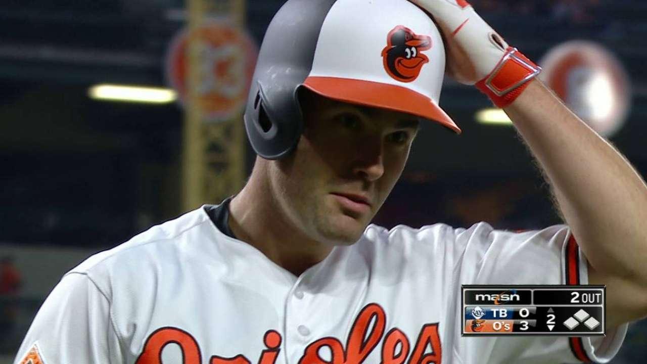 Los Orioles dejaron tendidos a los Rays con un boleto en el 11mo inning
