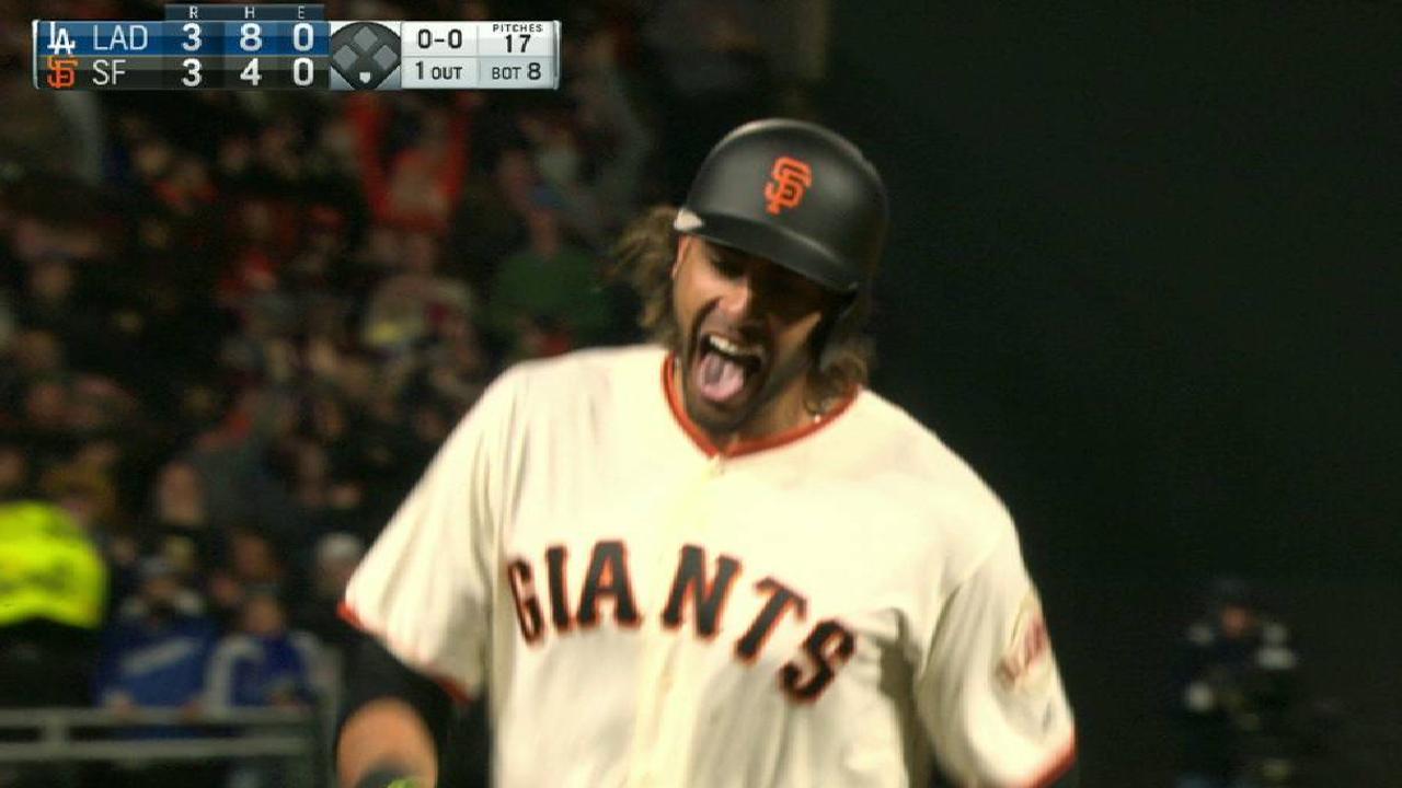 Pence decidió victoria de Gigantes sobre Dodgers en extrainnings