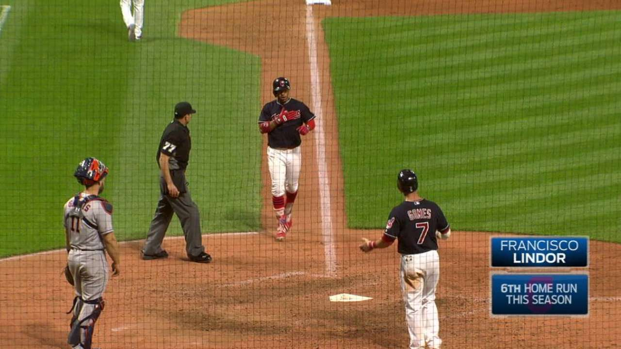 Lindor's homer lifts Tribe past Astros in finale
