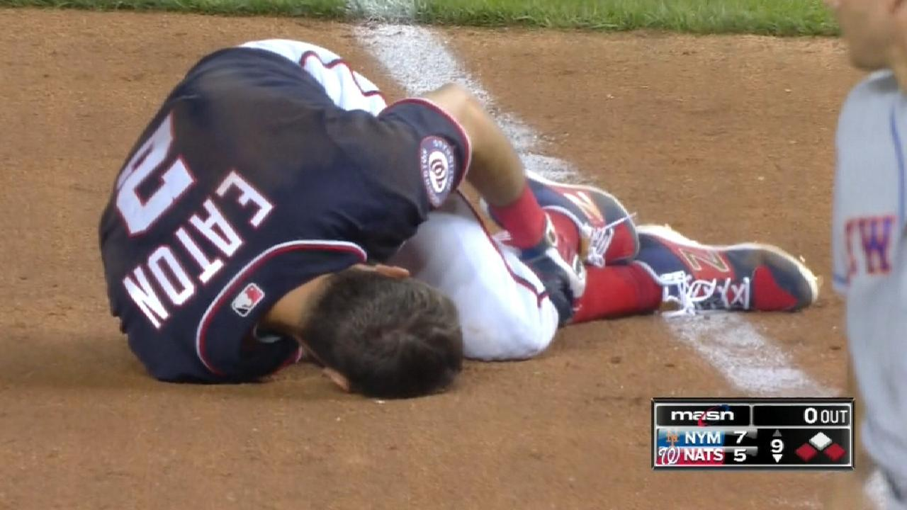 Nats place Eaton on DL after scary stumble