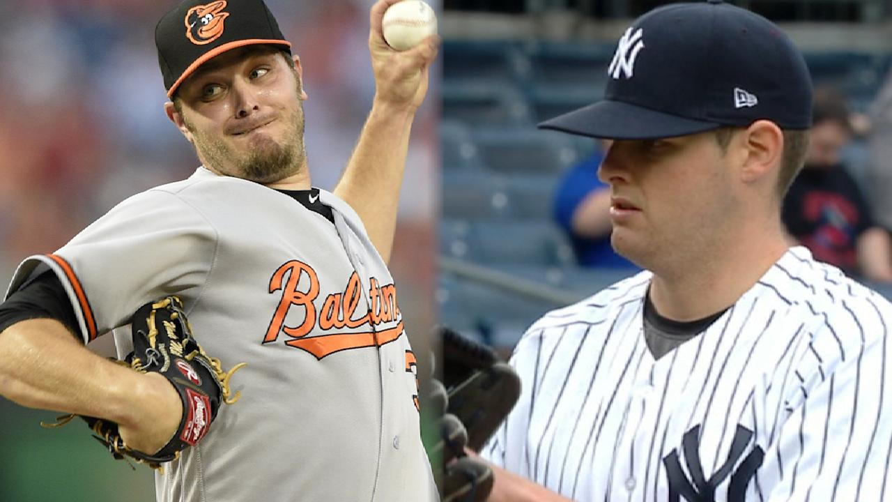 Montgomery, Miley set for O's-Yanks finale